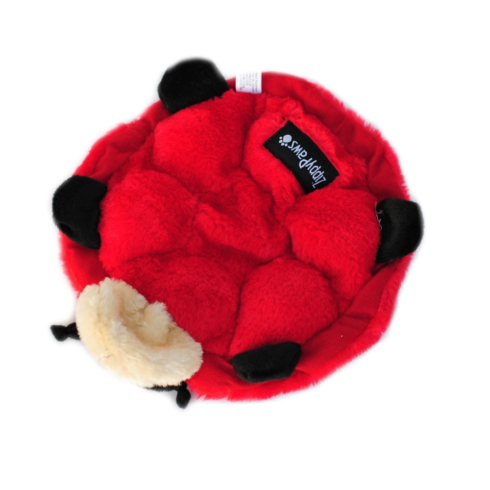 Zippy Paws Squeakie Crawler No Stuffing Speaker Dog Toy - Betsy the Ladybug image 0