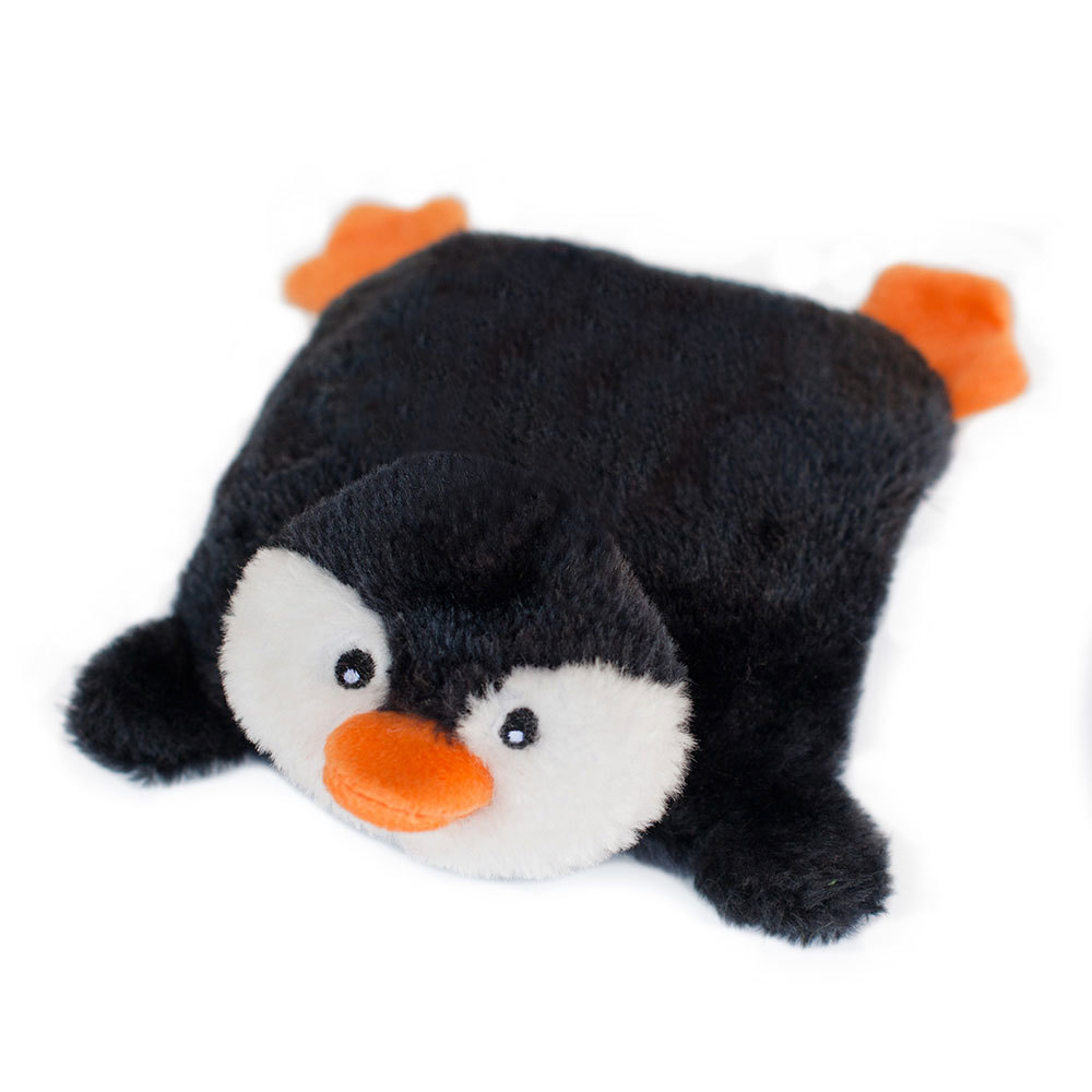 Zippy Paws Christmas Holiday Blaster Squeakie Pad Dog Toy - Penguin image 0