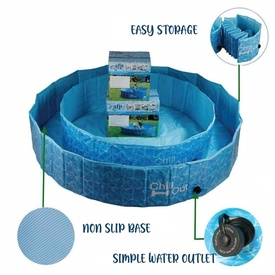 Chill-Out Pool for Dogs - Folds Down - No Inflation Required! image 0