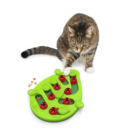 Nina Ottosson Puzzle & Play Buggin Out Treat Dispensing Cat Toy - Green image 0