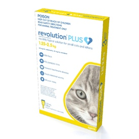 Revolution PLUS Flea, Worm & Tick Topical Prevention for Kittens &  Adult Cats 3-Pack image 0