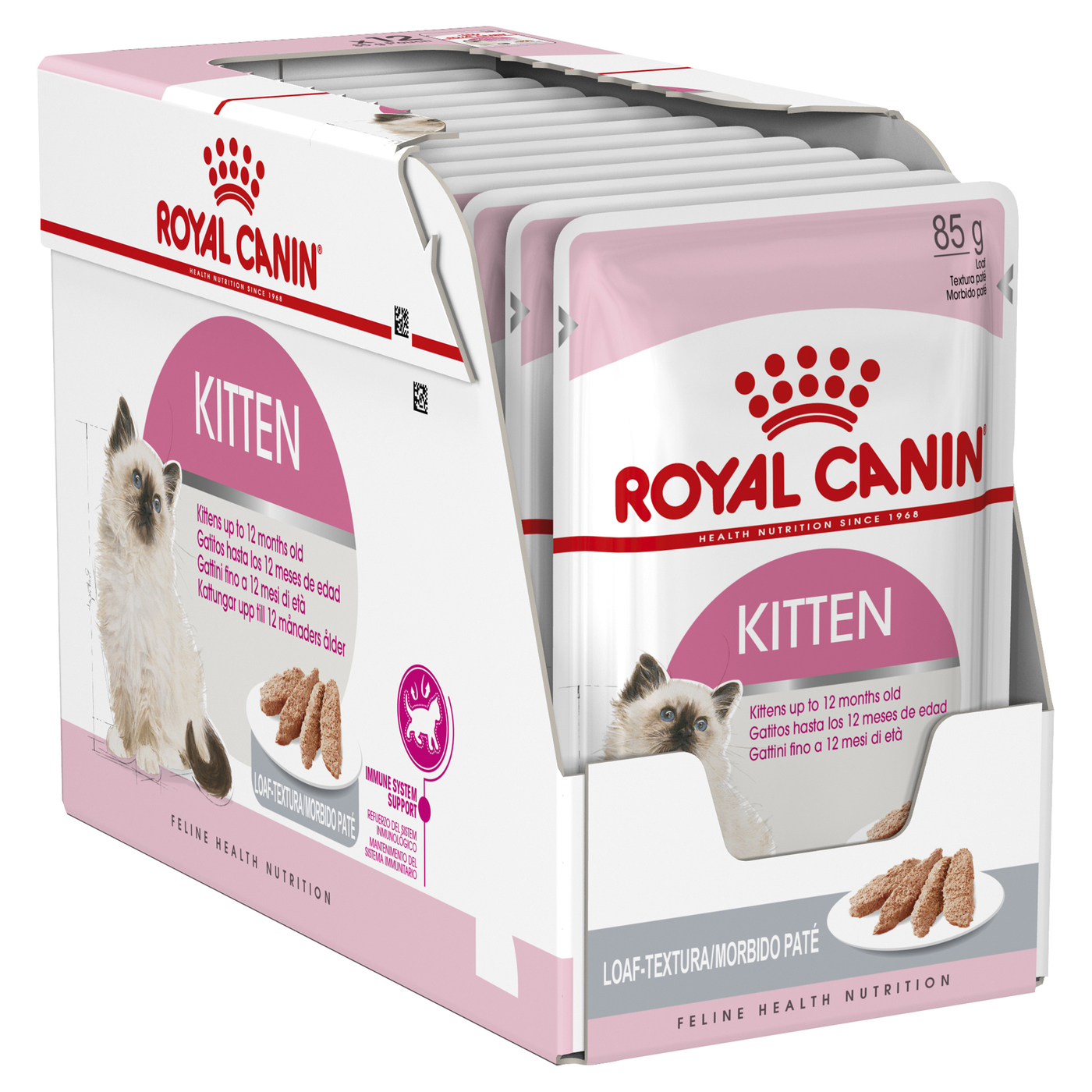 Royal Canin Instinctive Loaf Moist Kitten Food (up to 12 months) x 12 Pouches image 1