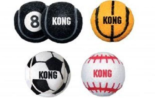 KONG Sport Tennis Balls Dog Toys in Assorted Sport Codes image 1