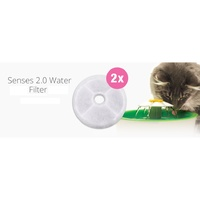 Catit 2.0 Triple-Action Carbon Filters for Catit Flower Fountain - 2 pack image 1