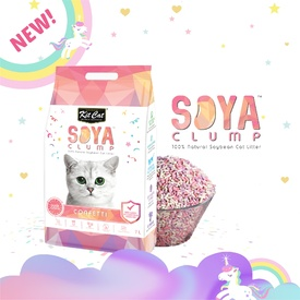 Kit Cat Soya Clumping Cat Litter made from Soybean Waste - Confetti 7 Litres image 1
