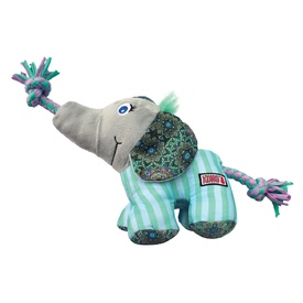KONG Knots Carnival Canvas Plush Dog Toy with Rope - Elephant image 1