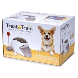 Petsafe Treat and Train Remote Reward Dog Trainer Treat Dispenser image 1