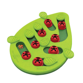 Nina Ottosson Puzzle & Play Buggin Out Treat Dispensing Cat Toy - Green image 1