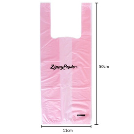 Zippy Paws Dog Poop Pick-Up Bags with Handles - Pink Light Jasmine Scent - 120 bags image 1