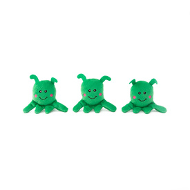 Zippy Paws Zippy Burrow Squeaker Dog Toy - 3 Aliens in a UFO image 1