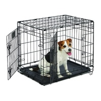 "Midwest ""Contour"" Double Door Dog Crate with Divider image 1"