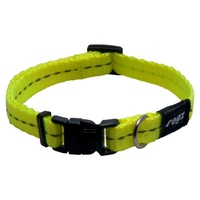 Rogz Utility Side-Release Collar with Reflective Stitching - Dayglow Yellow image 1
