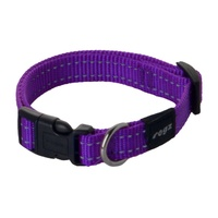 Rogz Utility Side-Release Collar with Reflective Stitching - Purple image 1