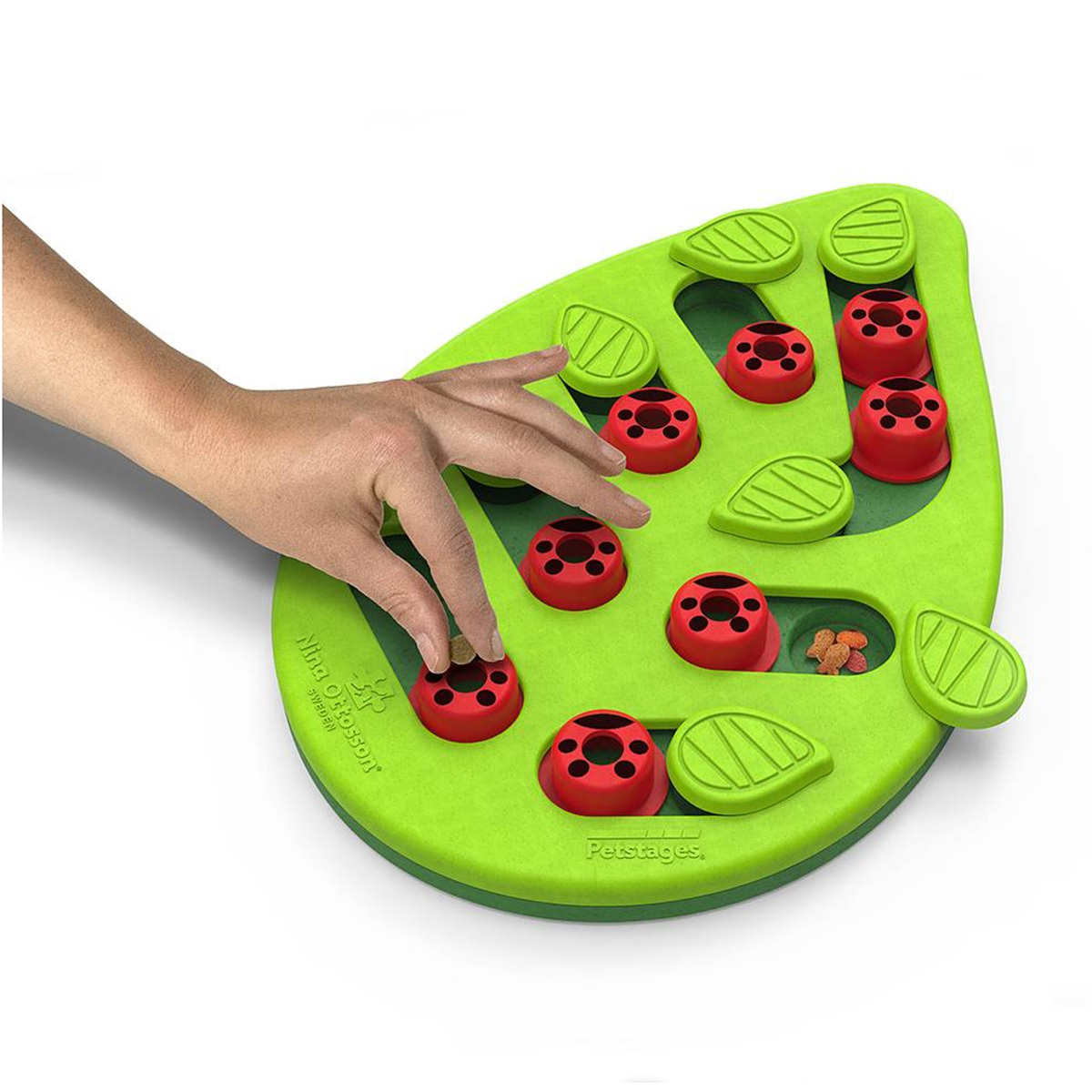 Nina Ottosson Puzzle & Play Buggin Out Treat Dispensing Cat Toy - Green image 2