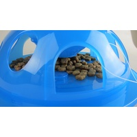 Smartcat Tiger Diner Interactive Slow Feeder Cat Bowl - Transparent Blue Plastic image 2