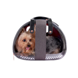 Ibiyaya Bubble Hotel Semi-transparent Pet Carrier for Cats and Dogs up to 6kg - Red image 2