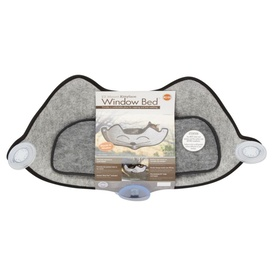 K&H EZ Mount Cat Window Seat Hammock - Grey with Cat's Face - Holds up to 27kg image 2