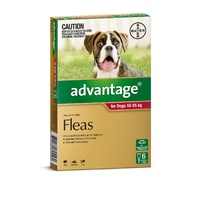 Advantage Spot-On Flea Control Treatment for Dogs 6-Pack - Kills Fleas Fast - All Sizes Available image 2