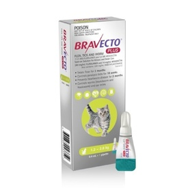 Bravecto PLUS Spot-On 3 month Flea, Tick & Worm Protection - For Cats of All Sizes image 2