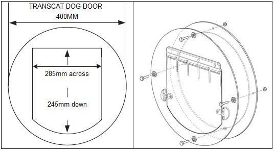 Transcat Clear Pet Dog Or Cat Door Large
