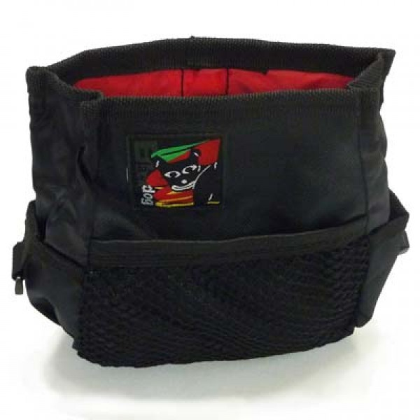Black Dog Treat & Training Tote Bag with Adjustable Belt image 3