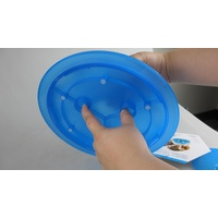 Smartcat Tiger Diner Interactive Slow Feeder Cat Bowl - Transparent Blue Plastic image 4