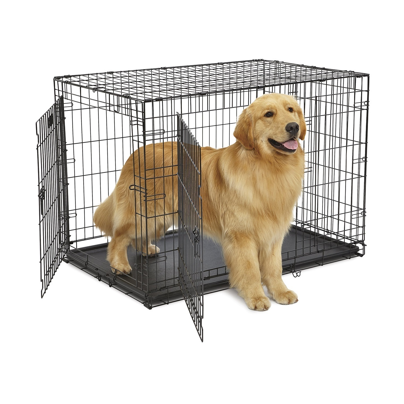 Lifestages Double Door Dog Crate With Divider