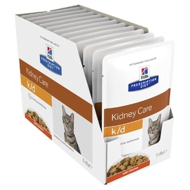 Hills Prescription Diet k/d Chicken Cat food 85g x 12 Pouches