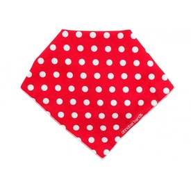 Hot Dog Cotton Bandana - Red Polka Dots