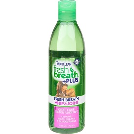 Tropiclean Fresh Breath Water Additive Plus Hip & Joint Support for Dogs 473ml