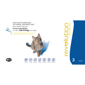 Revolution Flea & Worm Control for Cats & Kittens - 3 Pack