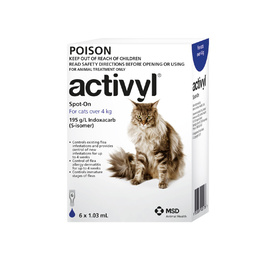 Activyl Spot-On Flea Control for Cats Over 4kg - Dark Blue (6 Dose Pack)