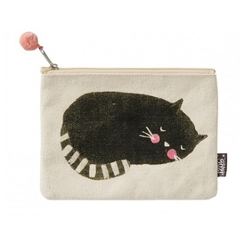"Mozi ""Feline Fine"" Zippered Coin & Poo Bag Holder Purse"