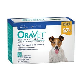 Oravet Plaque & Tartar Control Chews for Small Dogs 4.5-11kg - 28-pack