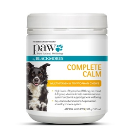 PAW Complete Calm Multi + Tryptophan Multivitamin Chews 300g