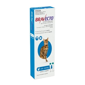 Bravecto Topical Spot-On - 3 month Flea & Tick Protection - For Cats 2.8-6.25kg
