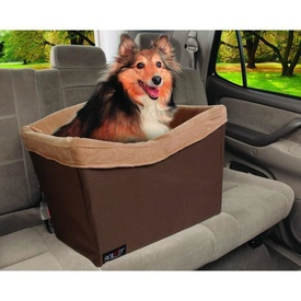 Solvit Jumbo On-Seat Booster Safety Seat in Chocolate for Small to Medium Dogs