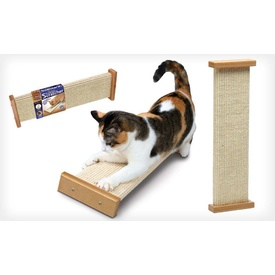 SmartCat Bootsie's Combination Scratcher Tough Sisal Cat Scratch Post