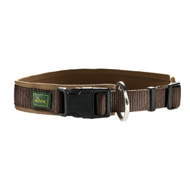 HUNTER Padded Neoprene Vario Plus Dog Collar - Brown & Caramel