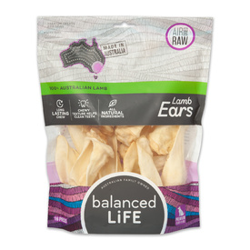 Balanced Life Australian Natural Grain Free Lamb Ears Dog Treat - 16 pieces
