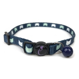 Cattitude Cat Collar with Breakaway Safety Clip & Bell - Cat Wink