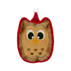 Outward Hound Holiday Invincibles Squeaker Dog Toy - Christmas Owl