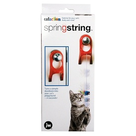 JW Cataction Catapult  Springy Doorknob Cat Toy