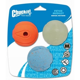 Chuckit! Medium Fetch Medley Dog Balls 3-Pack