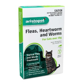 Aristopet Spot-on Flea, Heartworm & All-Wormer - Cats over 4kg