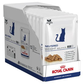 Royal Canin Prescription Neutered Adult Weight Balance Moist Cat Food x 12 Pouches