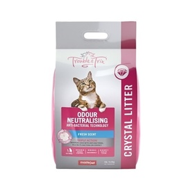 Trouble & Trix AntiBacterial Odour-Neutralising Fresh Scent Crystal Cat Litter 15L