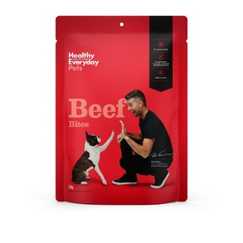 Healthy Everyday Pets by Pete Evans Grain Free Treats for Cats & Dogs - Beef Bites 50g
