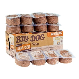 Big Dog Frozen Raw Food for all Dogs - Wellbeing 2kg - IN STORE ONLY