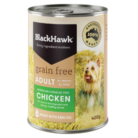 Black Hawk Grain Free Chicken Adult Moist Dog Food 400g
